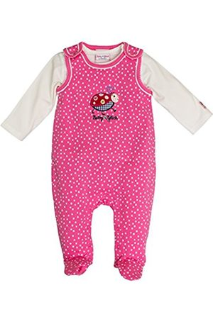Salt & Pepper SALT AND PEPPER Baby Girls' BG Playsuit Allover Käfer Footies