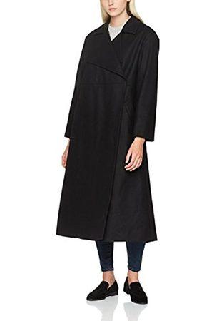 B&O Play Women's Platform Felt L/S Clnch Wst Ct Coat