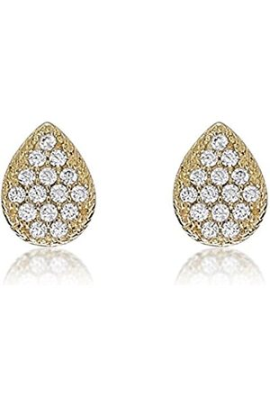 Paprika Carissima 9ct Yellow Cubic Zirconia Pear Shaped Stud Earrings