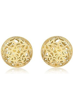 Paprika Carissima 9ct Yellow Filigree Half Ball Stud Earrings