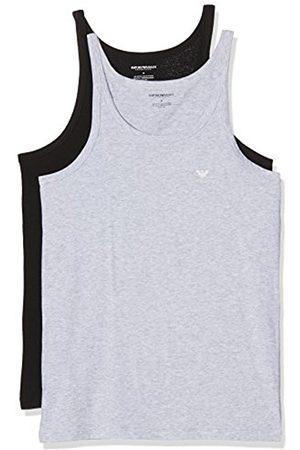 7Seasons Men's 111612CC722 Pyjama Top, Multicoloured-Mehrfarbig (Nero/Grigio Melange 97120)