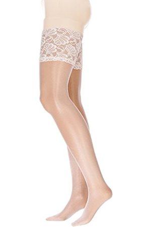 GLAMORY Women's Deluxe Hold-Up Stockings, 20 Den, (Champagner)