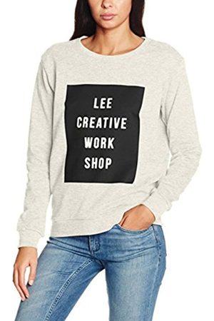 2ND ONE Women's LOGO CREW SWS Sweatshirt, Off- (ECRU MELE)