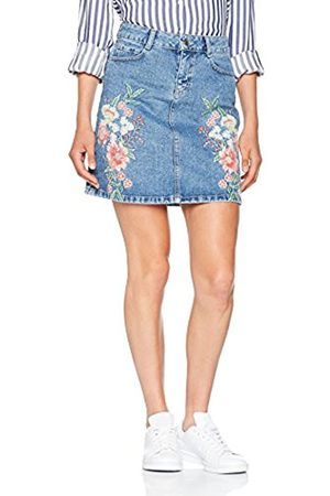 Jacques Vert Women's Denim Embroidered Skirt Dress