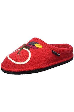 Haflinger Women's Flair Radl Open Back Slippers red Size: 5 UK
