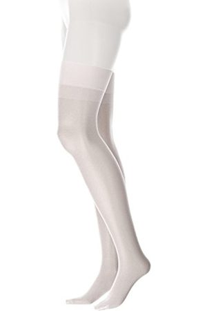GLAMORY Women's Perfect Suspender Stockings, 20 Den(Weiss)