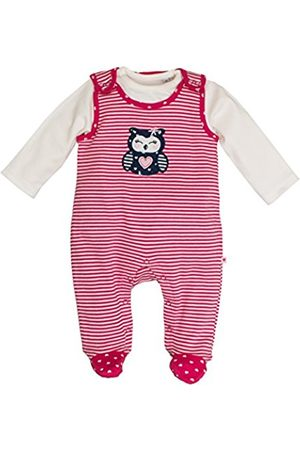 Baby Girls' NB Playsuit Happy Stripe Footies