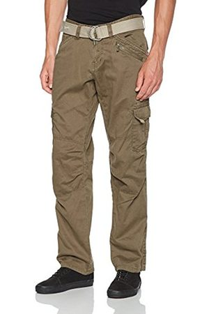 Timezone Men's Benitotz Cargo Pants Incl Belt Trousers, (Dark Earth 6200)