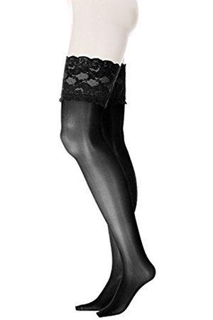 GLAMORY Women's Luxury Suspender Stockings, 20 Den