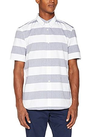 French Connection Men's Summer Soft Oxford Stripe Reg Casual Shirt