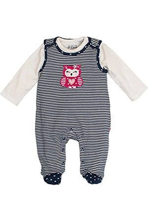 SALT AND PEPPER Baby Girls' NB Playsuit Happy Stripe Footies