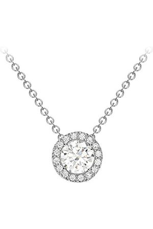 Carissima Gold 9ct Cubic Zirconia Halo Necklet of Length 45.72cm