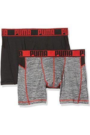 Puma Men's Active Grizzly Melange Boxer 2P Sports Undergarment
