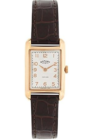 Rotary Watches Portland Women's Quartz Watch with Dial Analogue Display and Leather Strap LS02699/01