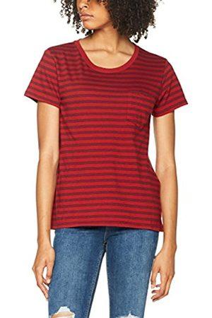Levi's Women's The Perfect Pocket Tee T-Shirt, Multicoloured (Wanderer Cn 100/Navy Blazer 67)