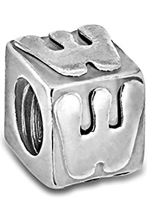 Sterling W Cube Bead