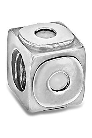 Sterling O Cube Bead