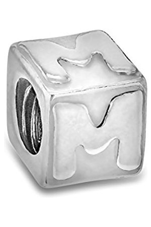 Sterling M Cube Bead