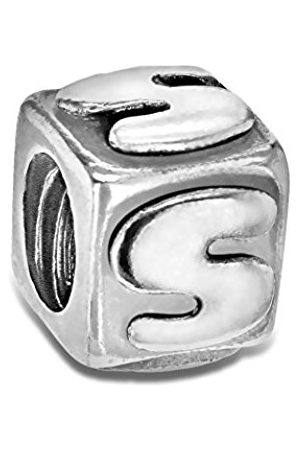 Sterling S Cube Bead