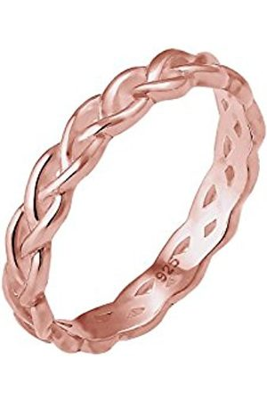 Elli Women Twisted Node Knot Infinity 925 Silver Plated Ring - Size N