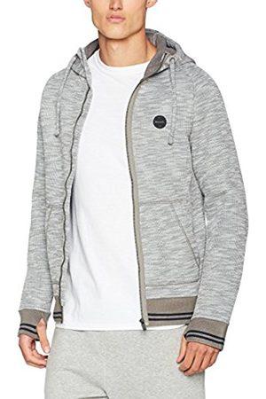 Bench Men's Bonded Hoody with Logo Print Sweat Jacket