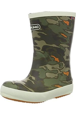 Viking Unisex Kids' Classic Indie Camo Rubber Boots Size: 1.5