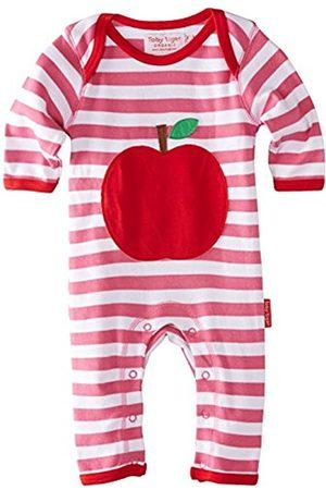 Toby Tiger Baby-Girls Organic Cotton Apple Applique Sleepsuit Romper
