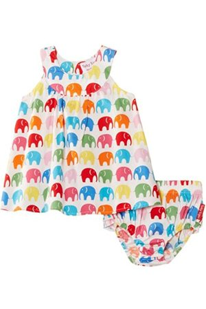 Toby Tiger Baby-Girls Cotton Baby Elly with Frilly Pants Set Dress. Amazon 5b009065b2bc