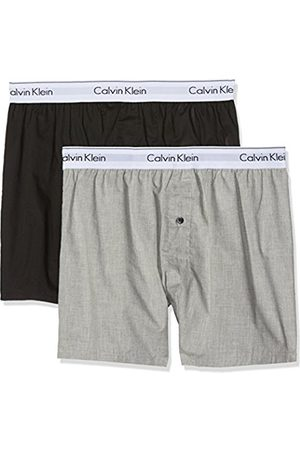 Calvin Klein Men's 2p Slim Fit Boxer Short, Multicoloured ( / Heather)
