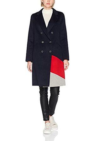 Tommy Hilfiger Women's Carmen Df Clr Block Wool Coat, Multicoloured ( Htr/True /Midnight)