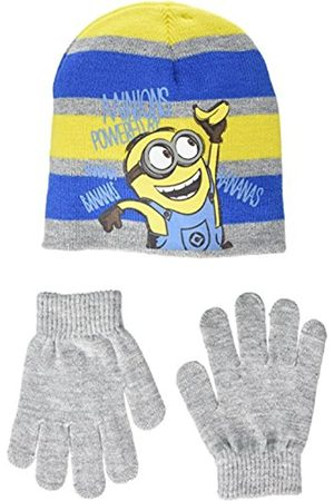 Universal Boy's Minion Powered by Banana Hat and Glove Set