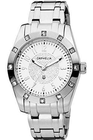 ORPHELIA Classic Glam Women's Quartz Watch with White Dial Analogue Display and Stainless Steel Bracelet 12607
