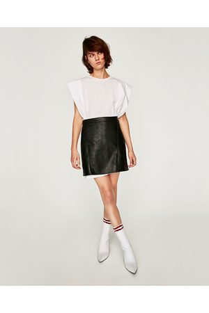 Zara MINI SKIRT WITH SNAP BUTTONS AT WAIST - Available in more colours