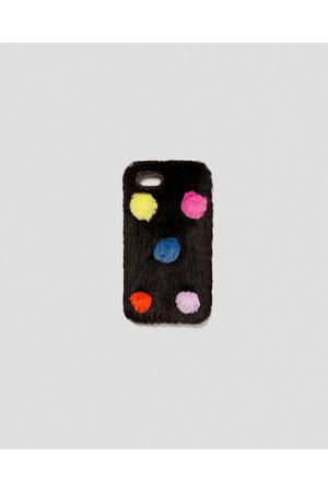 Zara TEXTURED MOBILE PHONE CASE WITH EMBELLISHMENT