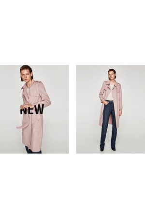 Zara FAUX SUEDE TRENCH COAT - Available in more colours