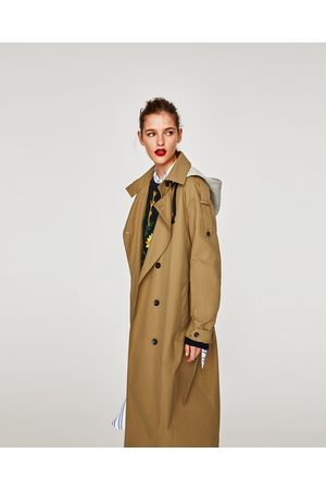 Zara TRENCH COAT WITH REMOVABLE HOOD