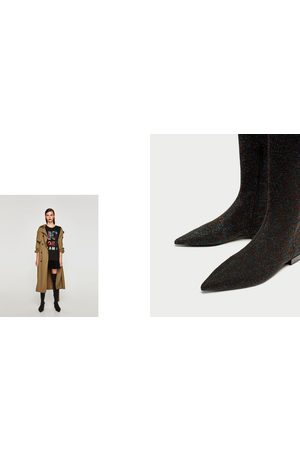 Women High Leg Boots - Gebeana FLAT MULTICOLORED OVER-THE-KNEE BOOTS