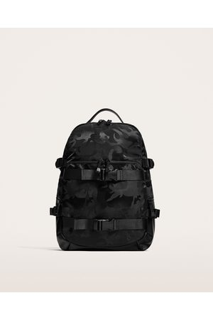 Zara CAMOUFLAGE PRINT BACKPACK