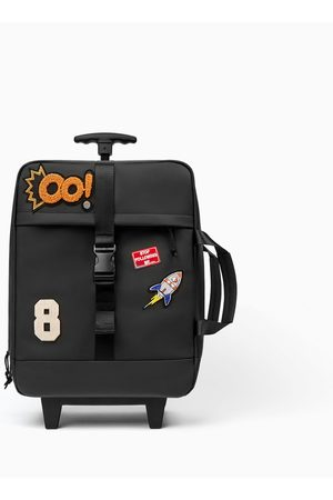 Zara TRAVEL TROLLEY SUITCASE WITH PATCHES