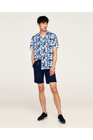 Zara MICRO-PRINT BERMUDA SHORTS - Available in more colours