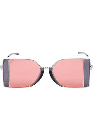 Women Sunglasses - SQUARED SEE-THRU LENS SUNGLASSES