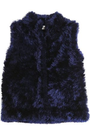MILLY MINIS FAUX FUR KNIT VEST