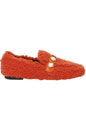 Women Brogues & Loafers - 10MM FURRY FAUX SHEARLING LOAFERS