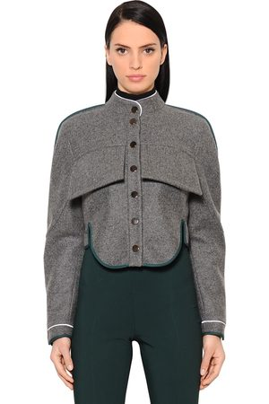Women Jackets - ANTONIO BERARDI SHORT WOOL & CASHMERE JACKET