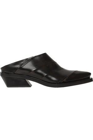 Marc 30MM PANELED LEATHER MULES