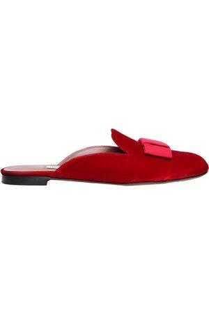 Women Sandals - Tabitha Simmons 10MM MASHA BOW VELVET MULES