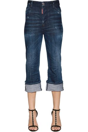 Women Bootcut & Flares - Dsquared2 CROPPED FLARED DENIM JEANS