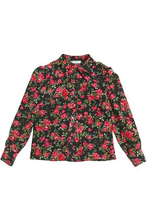 Girls Shirts - Dolce & Gabbana ROSES PRINTED SILK CREPE DE CHINE SHIRT