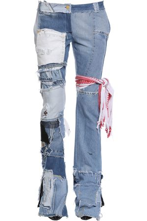UP CYCLED PATCHWORK DENIM JEANS