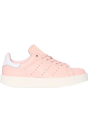 Stan Smith Bold Leather-trimmed Suede Sneakers - Lilac adidas Originals ArS1eSM